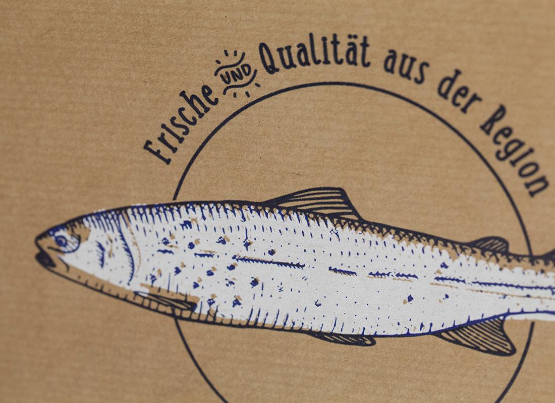 Fischhof Baumüller Bodenbeutel Detail